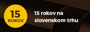 15 rokov na slovenskom trhu